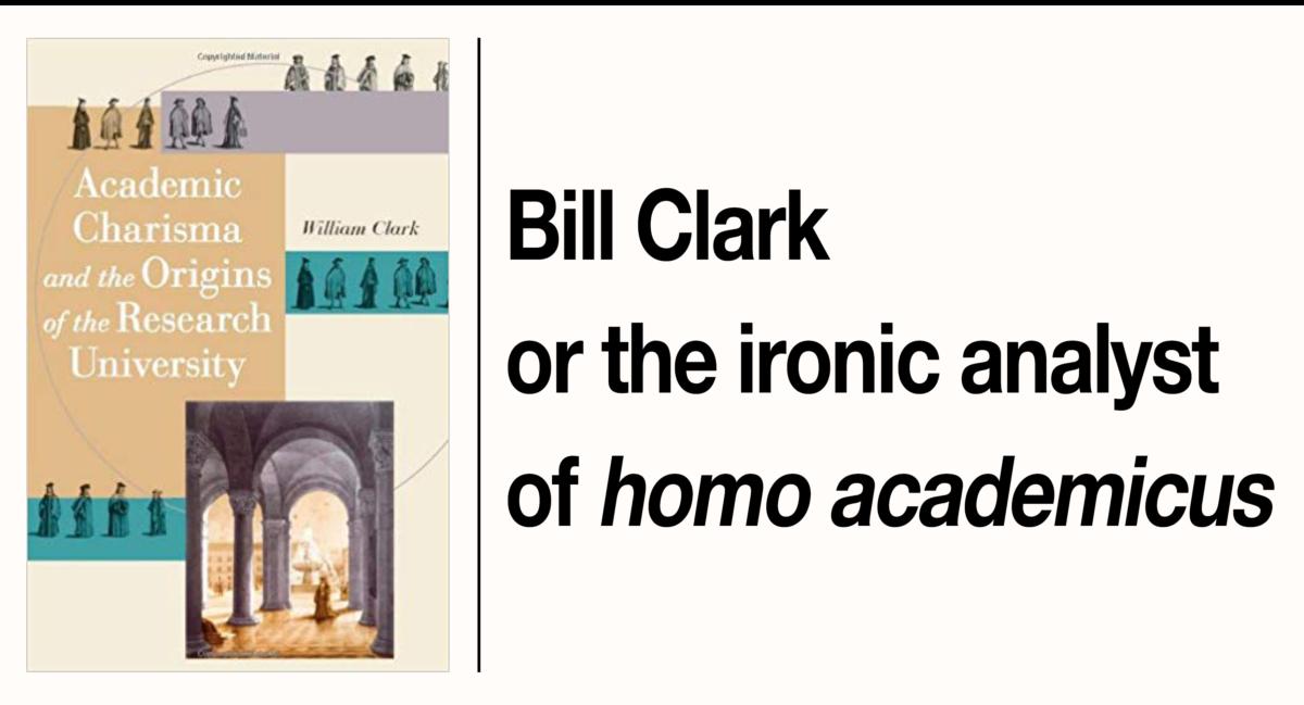 In memoriam William Clark (1953-2017)